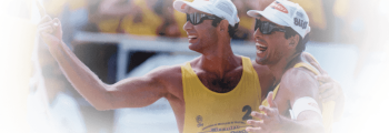 Brazilian Champion of Beach Volleyball together with Tande